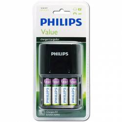Philips Value Battery Charger SCB1491NB - شارژر باتری فیلیپس مدل Value کد SCB1491NB