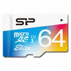 Silicon Power Color Elite UHS-I U1 Class 10 microSDHC_64GB -