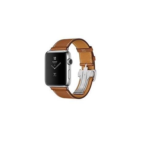 Apple Watch Series 2 with Leather Single Tour Deployment Buckle 42mm