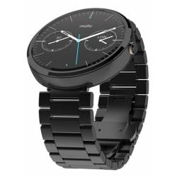 Motorola Moto 360 Black Metal Band