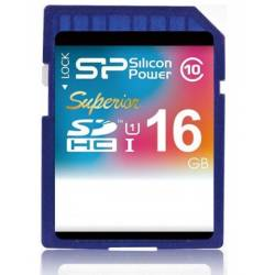 Silicon Power SDHC Class 10 Superior UHS-I 16GB - کارت حافظه SDHC سیلیکون پاور UHS-I کلاس 10 سوپریر 16 گیگابایت