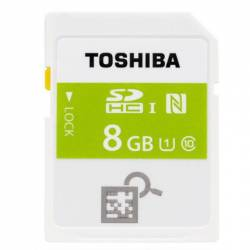 Toshiba NFC High Speed Professional Class 10 UHS-I U1 SDHC 8GB - کارت حافظه توشیبا مدل NFC پروفشنال کلاس 10 UHS-I U1 8GB