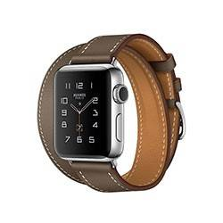Apple Watch Series 2 Stainless Steel with Etoupe Swift Leather Double Tour 38mm - ساعت هوشمند اپل سری 2