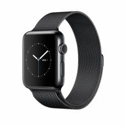 Apple Watch Series 2 Space Black Stainless Steel Case with Space Black Milanese Loop 42mm