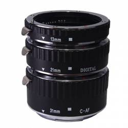 Phottix 3 Ring Auto-Focus AF Macro Extension Tube for Canon Metal