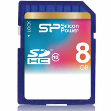 Silicon Power SDHC Class 10 8GB - کارت حافظه SDHC سیلیکون پاور کلاس 10 8 گیگابایت