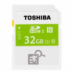 Toshiba NFC High Speed Professional Class 10 UHS-I U1 SDHC 32GB - کارت حافظه توشیبا مدل NFC پروفشنال کلاس 10 UHS-I U1 32GB